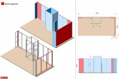 Progetto integrazione moduli Stand Textile Frame