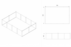 Progetto appendimento fieristico rettangolare