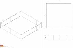 Progettazione appendimento quadrato