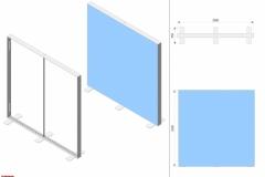 Progetto 3D fondale da 2,5m