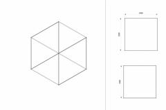 Progettazione struttura cubica Textile Frame