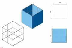 Progetto 3D cubo Textile Frame