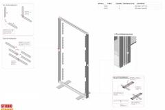 Progetto struttura fondale con retroilluminazione