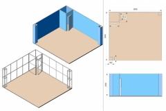 Stand Textile Frame con vano magazzino
