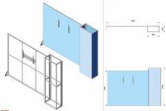 Progetto 3D Stand con attacchi per monitor