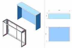 Stand Textile Frame Lux con pannello superiore