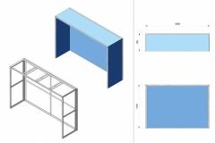 Progetto stand con copertura superiore