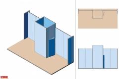 Progetto allestimento Stand Textile Frame