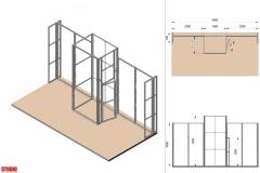 Progetto struttura Stand Textile Frame