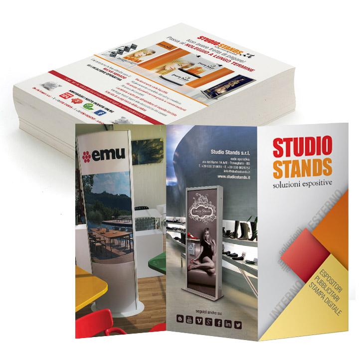 flyer pieghevoli brochure cataloghi stampa digitale piccolo formato