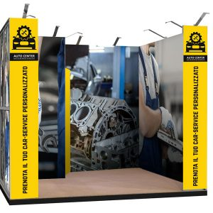 Render 3D Textile Frame Londra