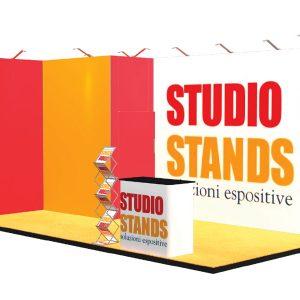 stand portatile textile frame madrid