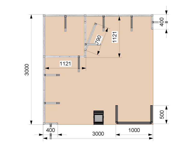 Tokyo - planimetria stand