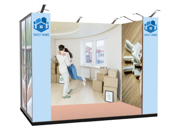 Vista 3D progetto textile frame tokyo