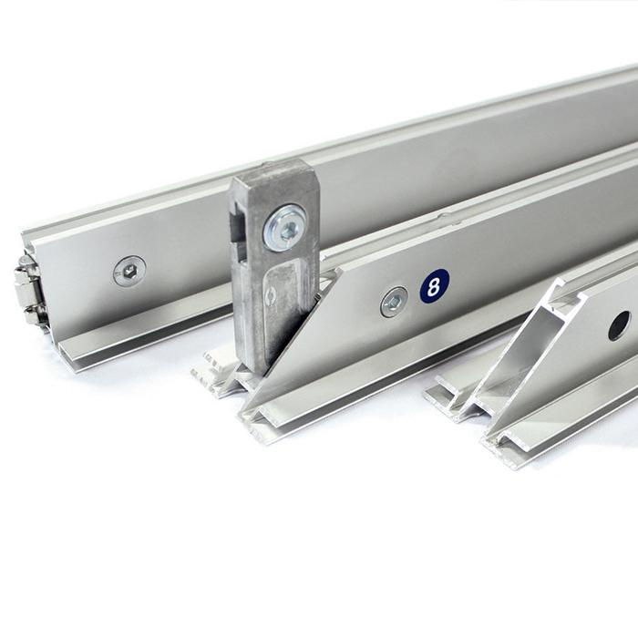 Dettaglio profili in alluminio Textile Frame